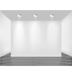 empty white wall vector image