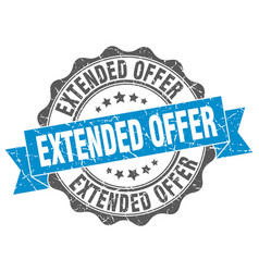extended offer stamp sign seal vector image vector image