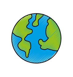 global world earth planet green ecology vector image vector image
