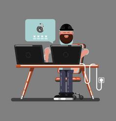 Hacker hacked somewones vector