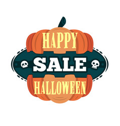 happy halloween sale offer design template vector image vector image