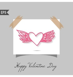 Happy valentines day cards with gift on background vector image