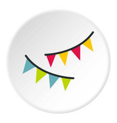 Holiday flags icon circle vector