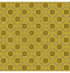 Line flower geometric seamless pattern 4311 vector