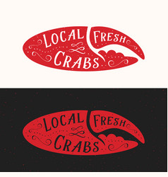 local fresh crabs sign seafood abstract vector image vector image