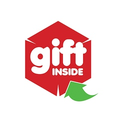 Logo red box and green arrow vector