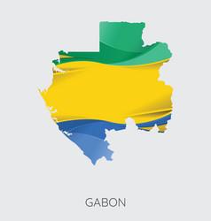 map of gabon vector image vector image