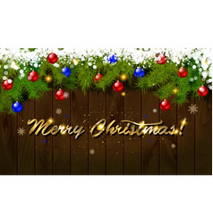 Merry christmas panoramic banner vector