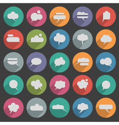 Message bubble icons with long shadow vector image vector image