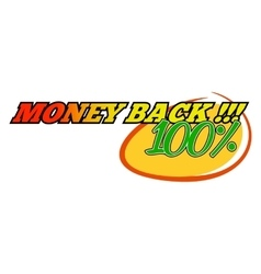 Money back comics icon vector