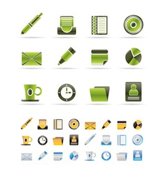 officeand business icons vector image