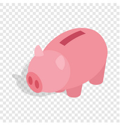 Piggy bank isometric icon vector