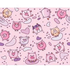 piglets seamless vector image