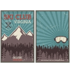 Retro summer or winter holiday poster travel and vector