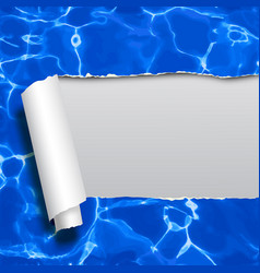 ripped paper with blue water not tracing seamless vector image vector image