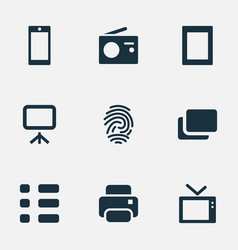 Set of simple digital icons vector