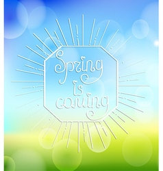 Spring is coming with sunbrust vector image