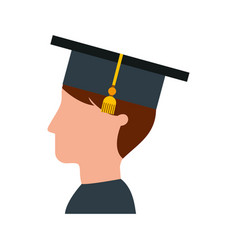 Student graduated isolated icon vector