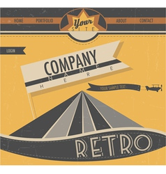 Website template in retro style vector image vector image