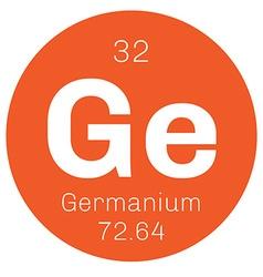 Germanium chemical element vector