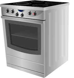 Electric stove vector