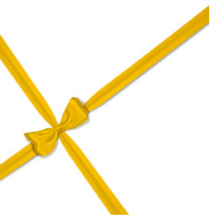Yellow realistic bow vector