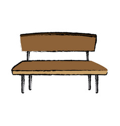 brown wooden bench seat chair old vector image