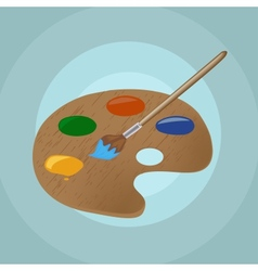 On isolated paint brush and backgroun vector