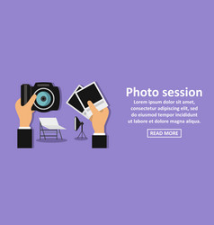 Photo session banner horizontal concept vector