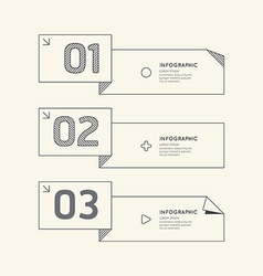 Flat linear Infographic Number Banner vector image