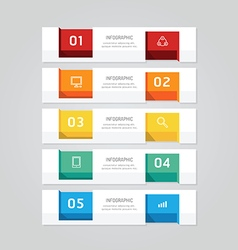 Infographics design geometric template banner vector