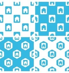 House plate patterns set vector