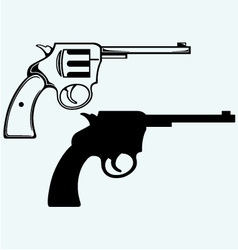 Old pistol vector