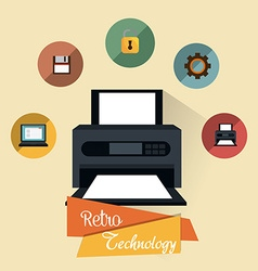 Retro and vintage technology graphic vector