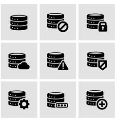 black database icon set vector image