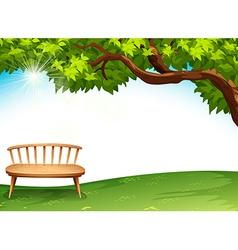 A chair near the tree vector