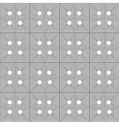 Abstract gray and white geometric seamless pattern vector image