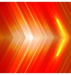 Abstract orange background with arrows vector image