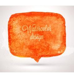 Abstract watercolor speech bubble vector