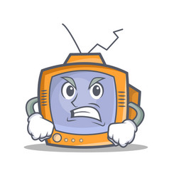 Angry tv character cartoon object vector