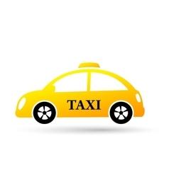 Cartoon taxi car vector