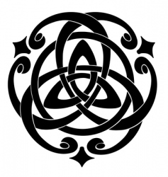 Celtic knot motif vector