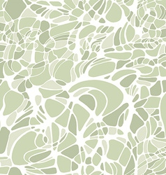 Color hand-drawing wave sea background green vector