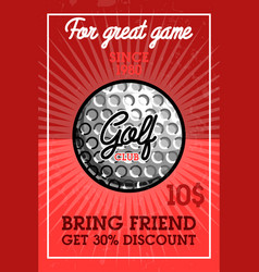 color vintage golf club banner vector image