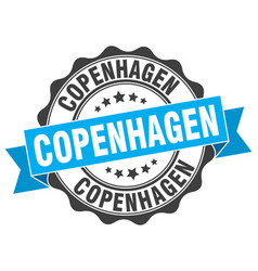 Copenhagen round ribbon seal vector