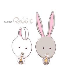 cute funny rabbits vector image vector image