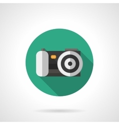 Digital camera round flat color icon vector image