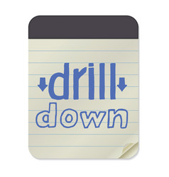 drill down notebook template vector image vector image