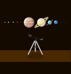 Explore planet with various kind of planet and vector