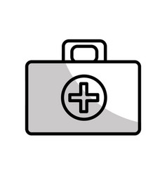 Figure medical aid kit emergency care vector